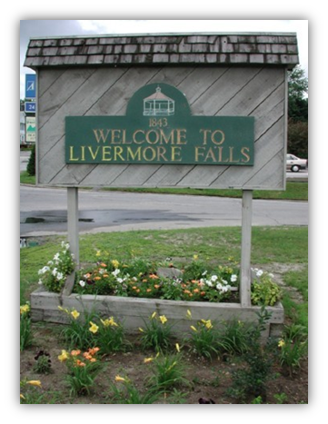 Livermore Falls Sign